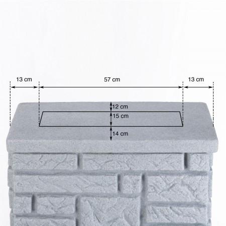 regentonne eckig wandtank noblesse 275 liter black granit. Black Bedroom Furniture Sets. Home Design Ideas
